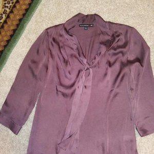 Banana Republic Mad Men silk purple shirt